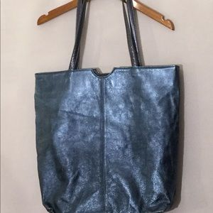 Wilson's Leather metallic blue tote